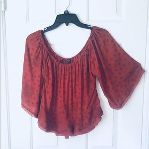 Off the Shoulder Blouse By Buffalo- David Bitton